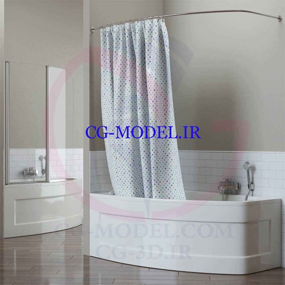 مدل سه بعدی وان حمام
