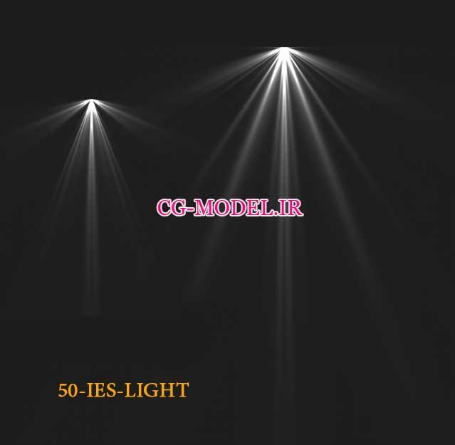 پنجاه عدد PNG نور IES