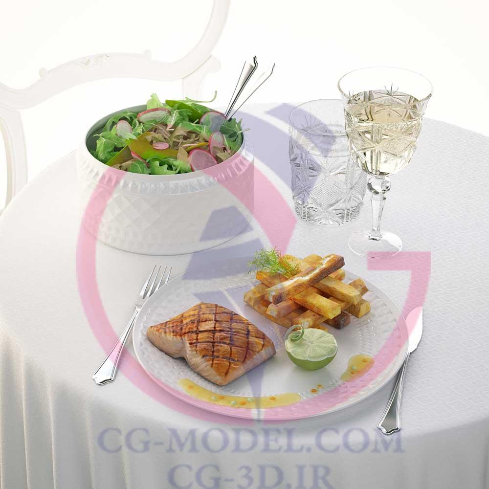 دانلود مدل سه بعدی غذا و سبزیجات