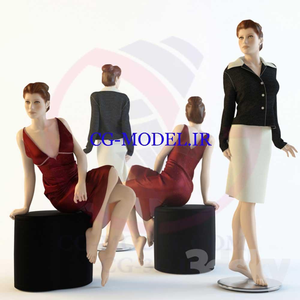 مدل سه بعدی مانکن زنانه