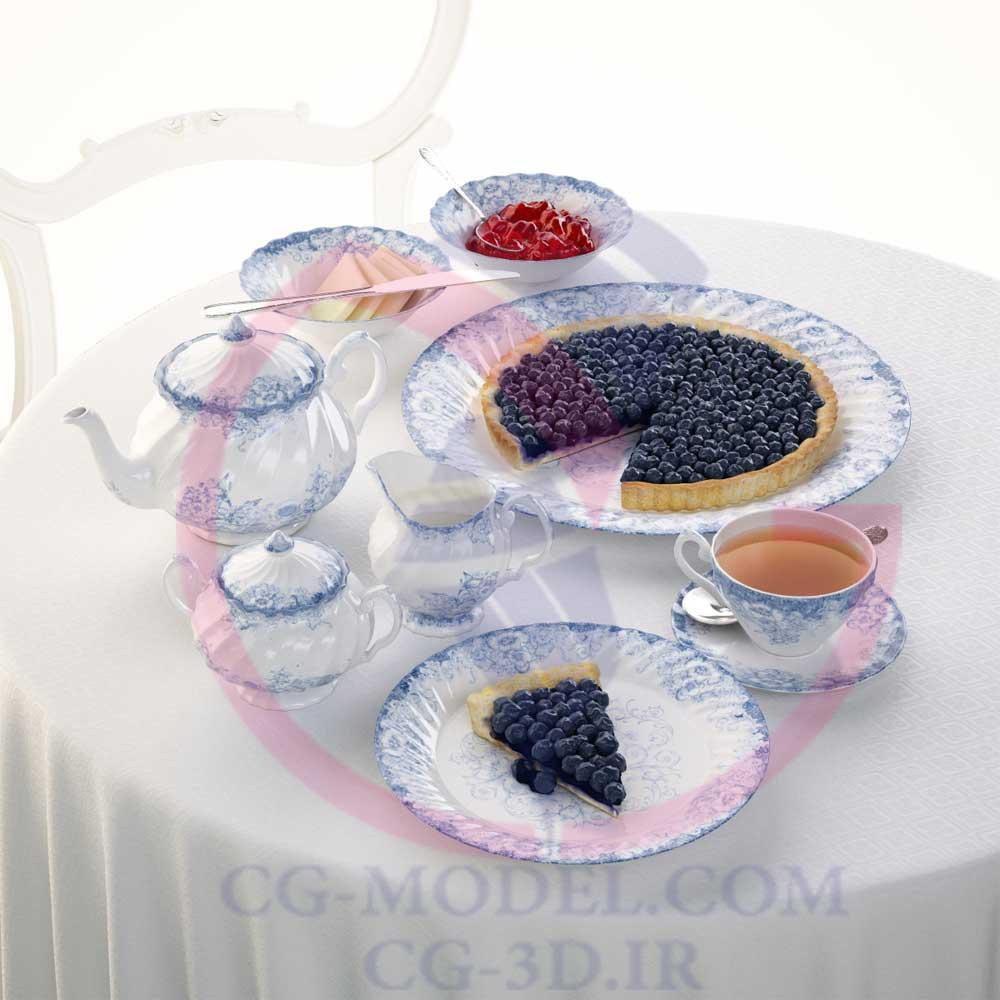 دانلود مدل سه بعدی صبحانه