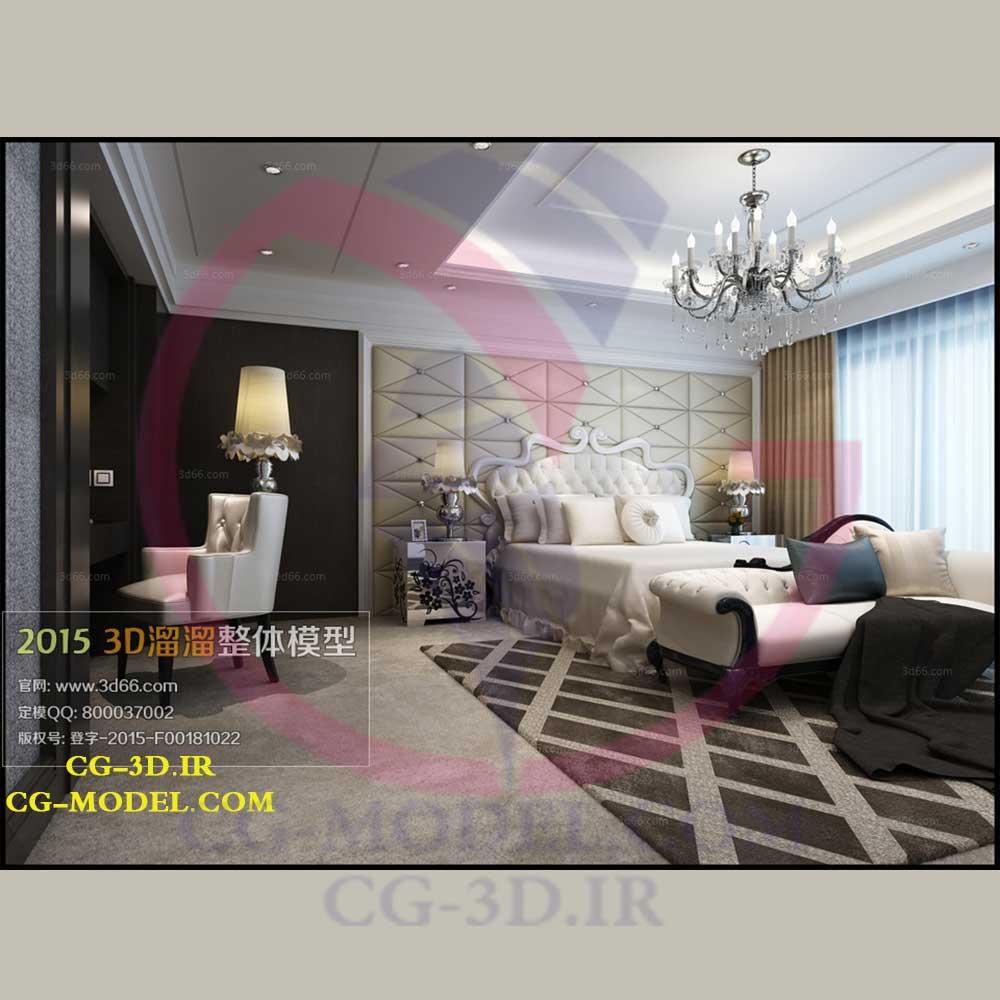 مدل سه بعدی صحنه داخلی اتاق خواب