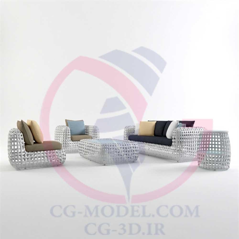 مدل سه بعدی مبلمان فضای باز(1)