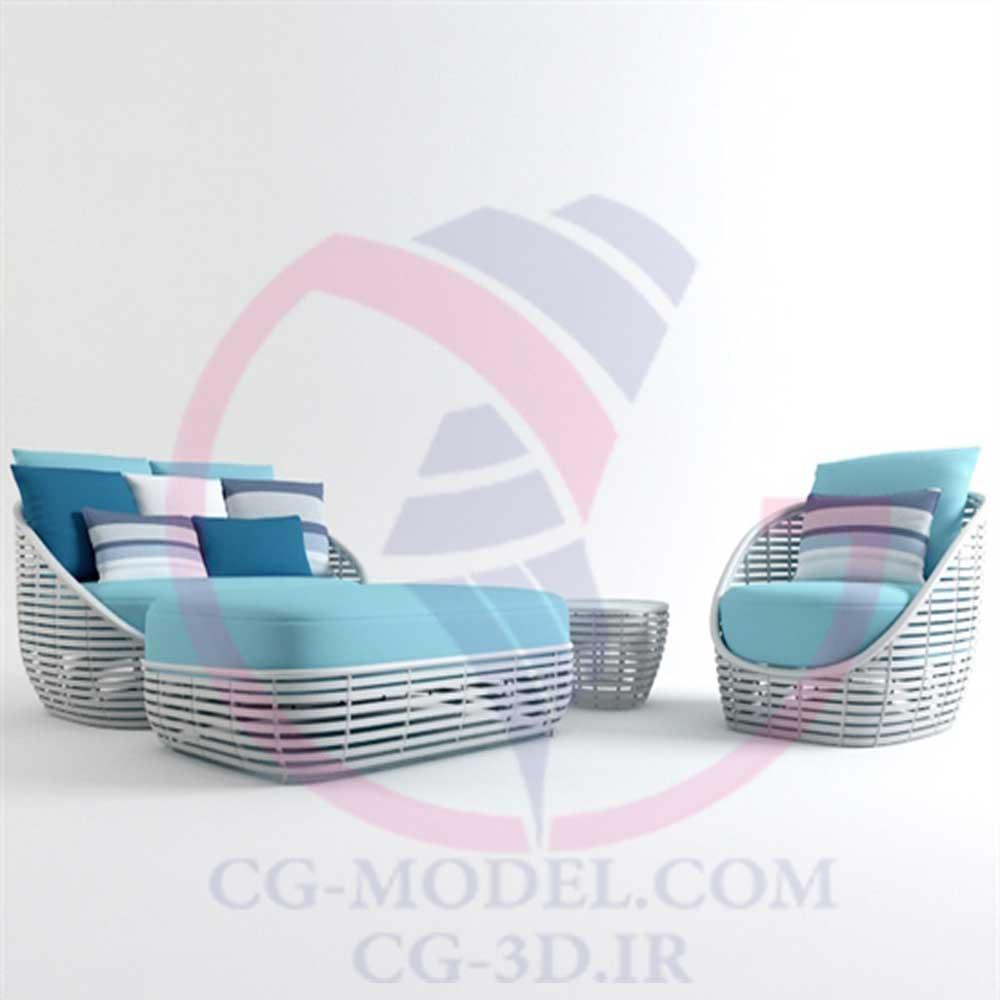 مدل سه بعدی مبلمان فضای باز(3)