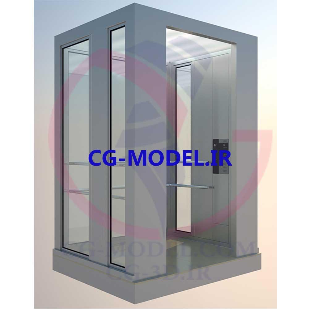 دانلود مدل سه بعدی آسانسور