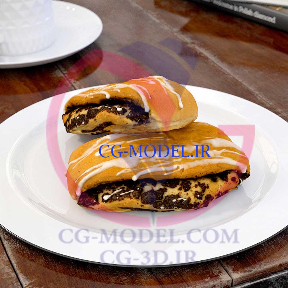 دانلود مدل سه بعدی شیرینی