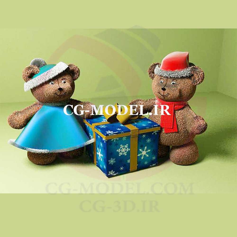 مدل سه بعدی عروسک خرس