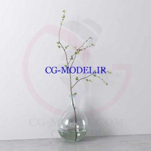 مدل سه بعدی گلدان گیاه تزئینی