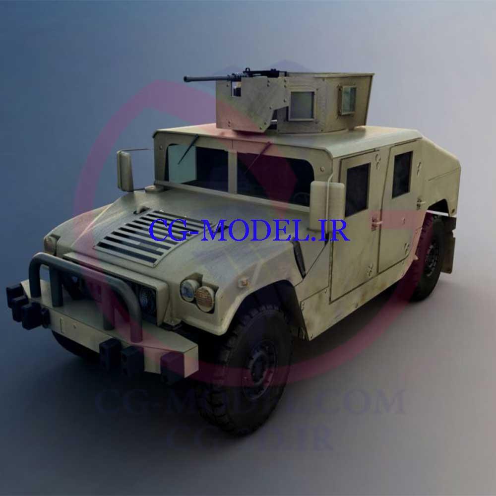 دانلود مدل سه بعدی ماشین نظامی 3DMAX