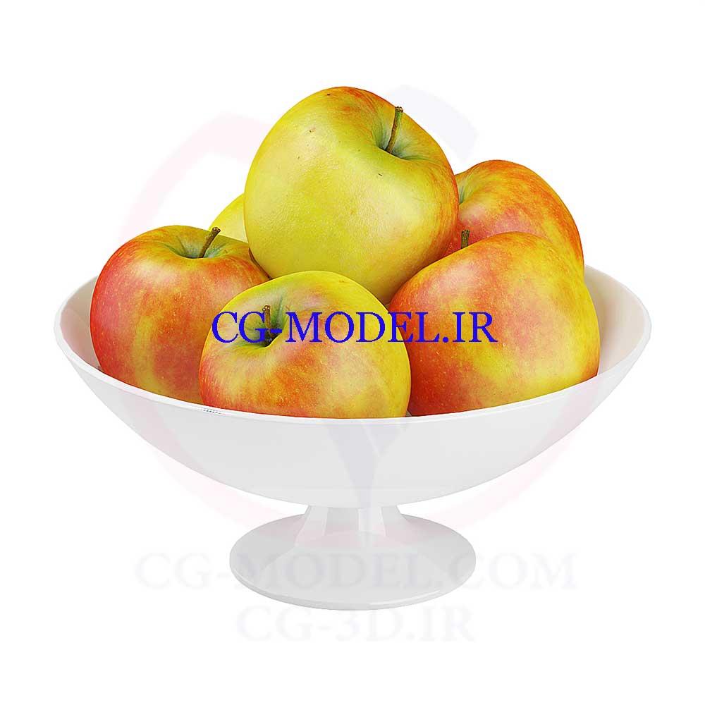 مدل سه بعدی سیب