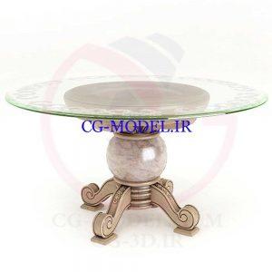 مدل سه بعدی میز گرد کلاسیک
