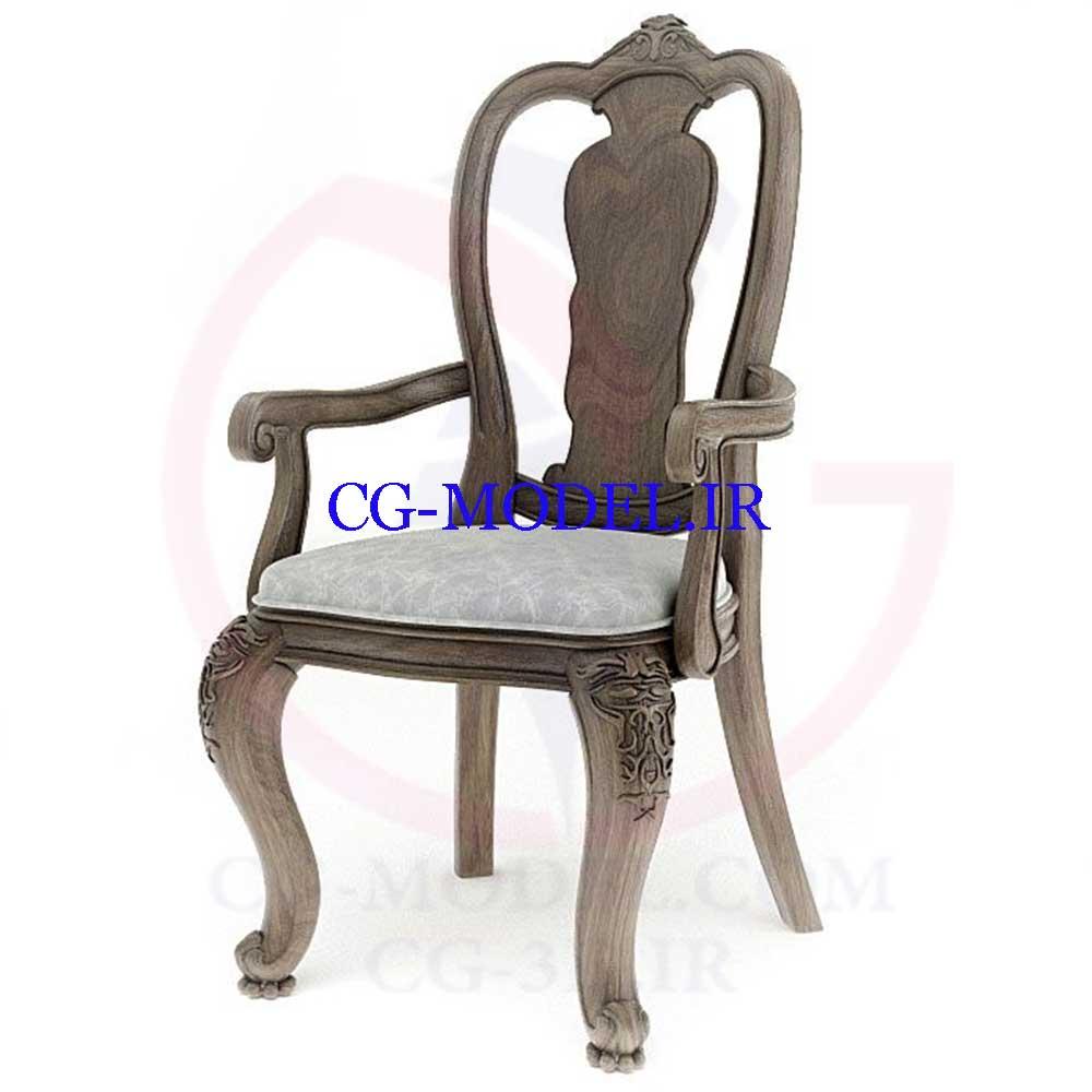 مدل سه بعدی صندلی کلاسیک 4