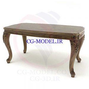 مدل سه بعدی میز کلاسیک