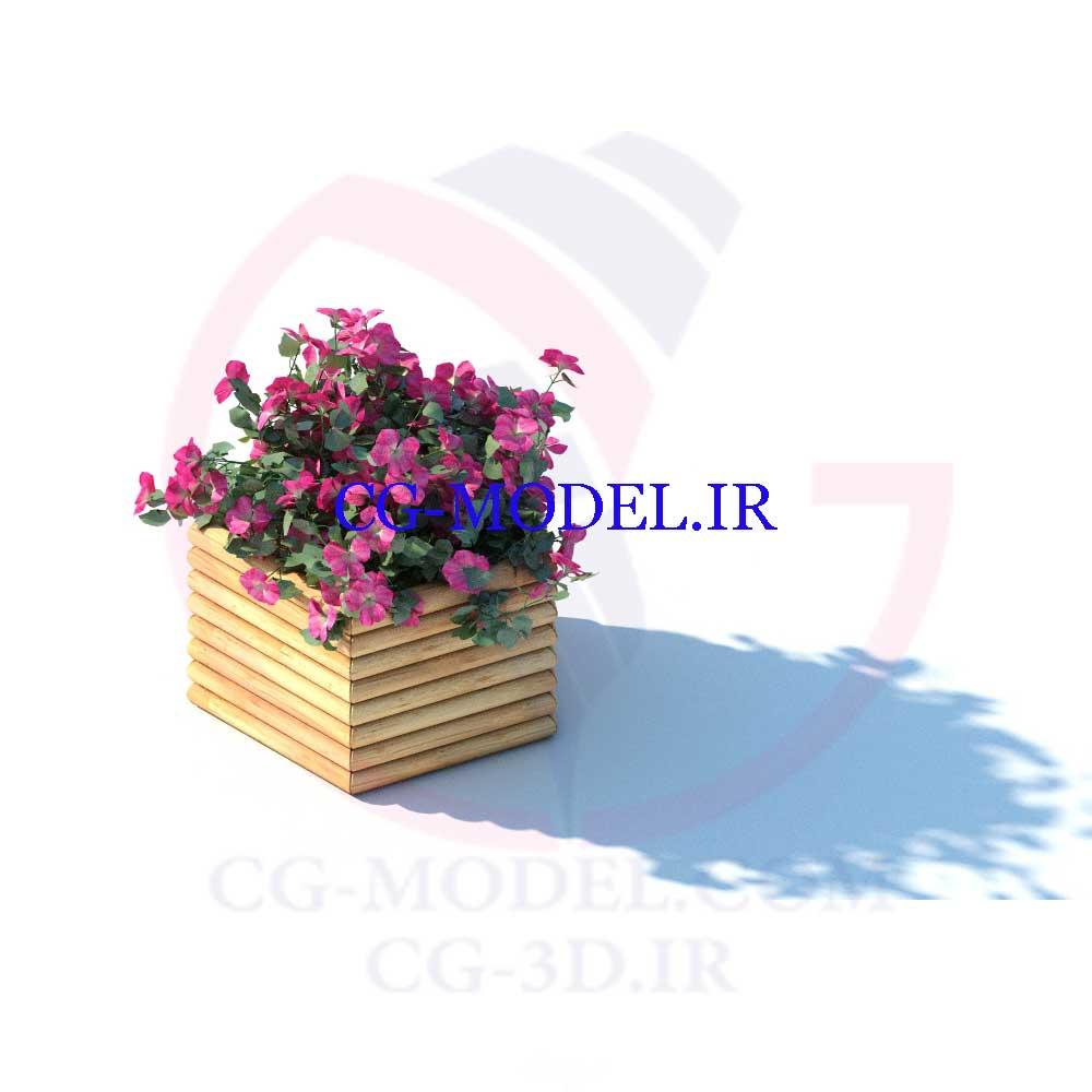 مدل سه بعدی فلاور باکس Flowers box