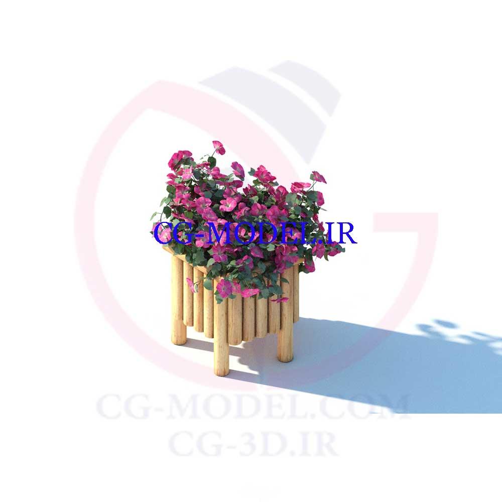 مدل سه بعدی Flowers box