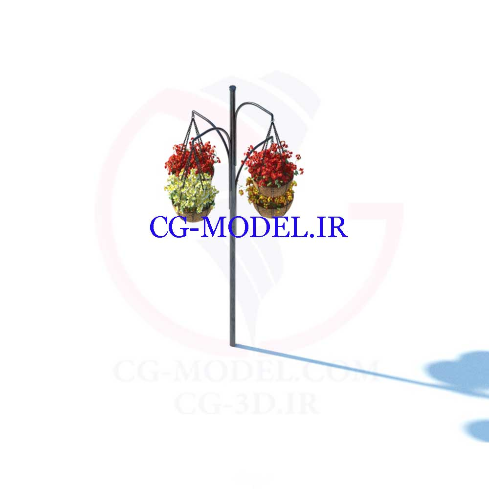 مدل سه بعدی گلهای تزئینی