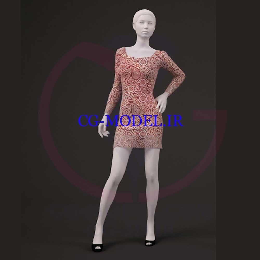 مدل سه بعدی مانکن با لباس