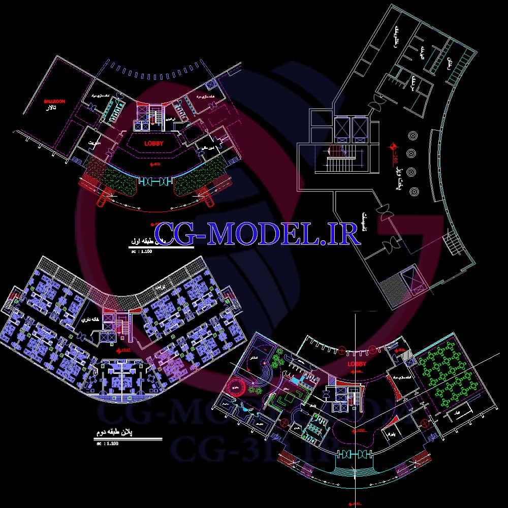 نقشه اتوکد ساختمان مسکونی