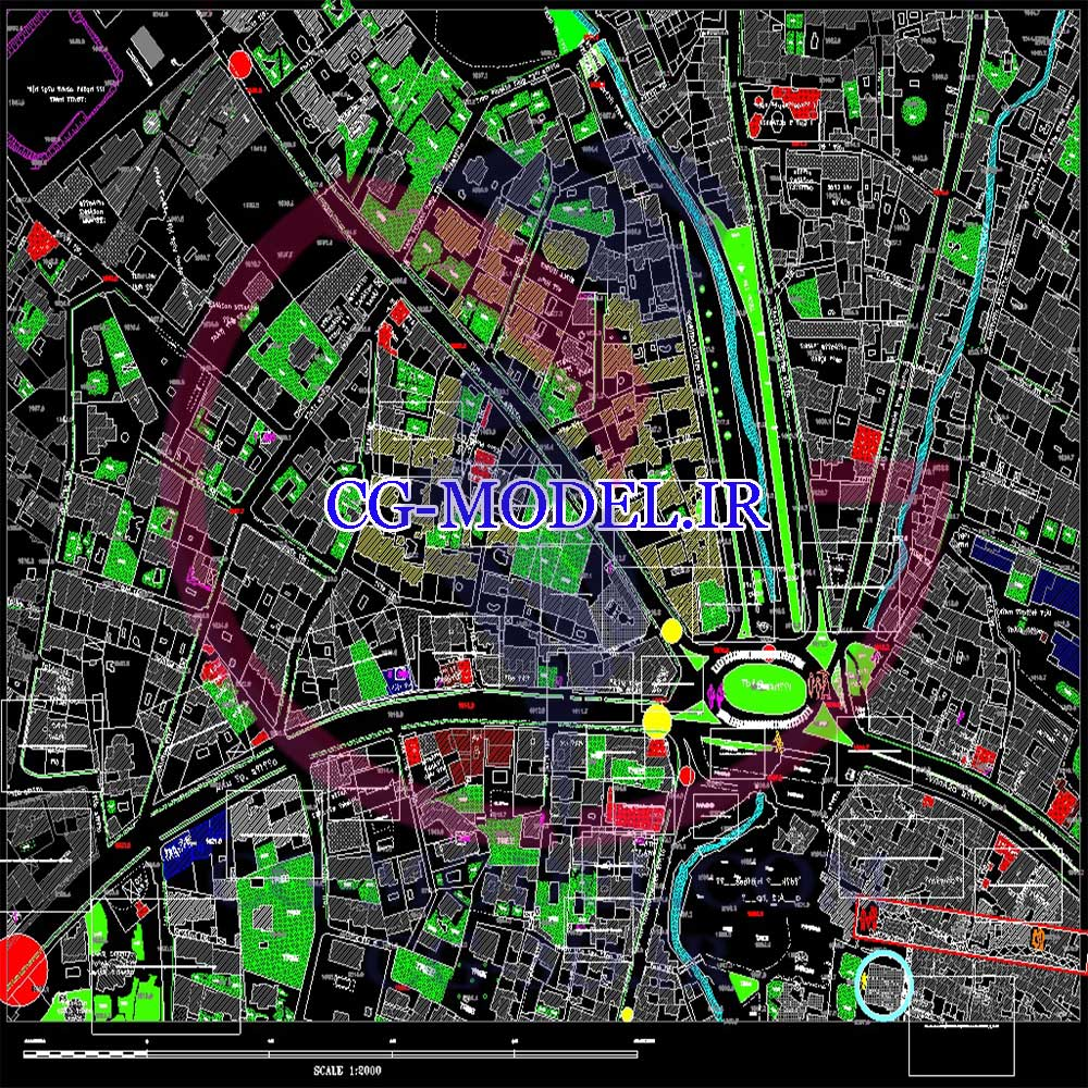 نقشه اتوکد منطقه 1 تهران