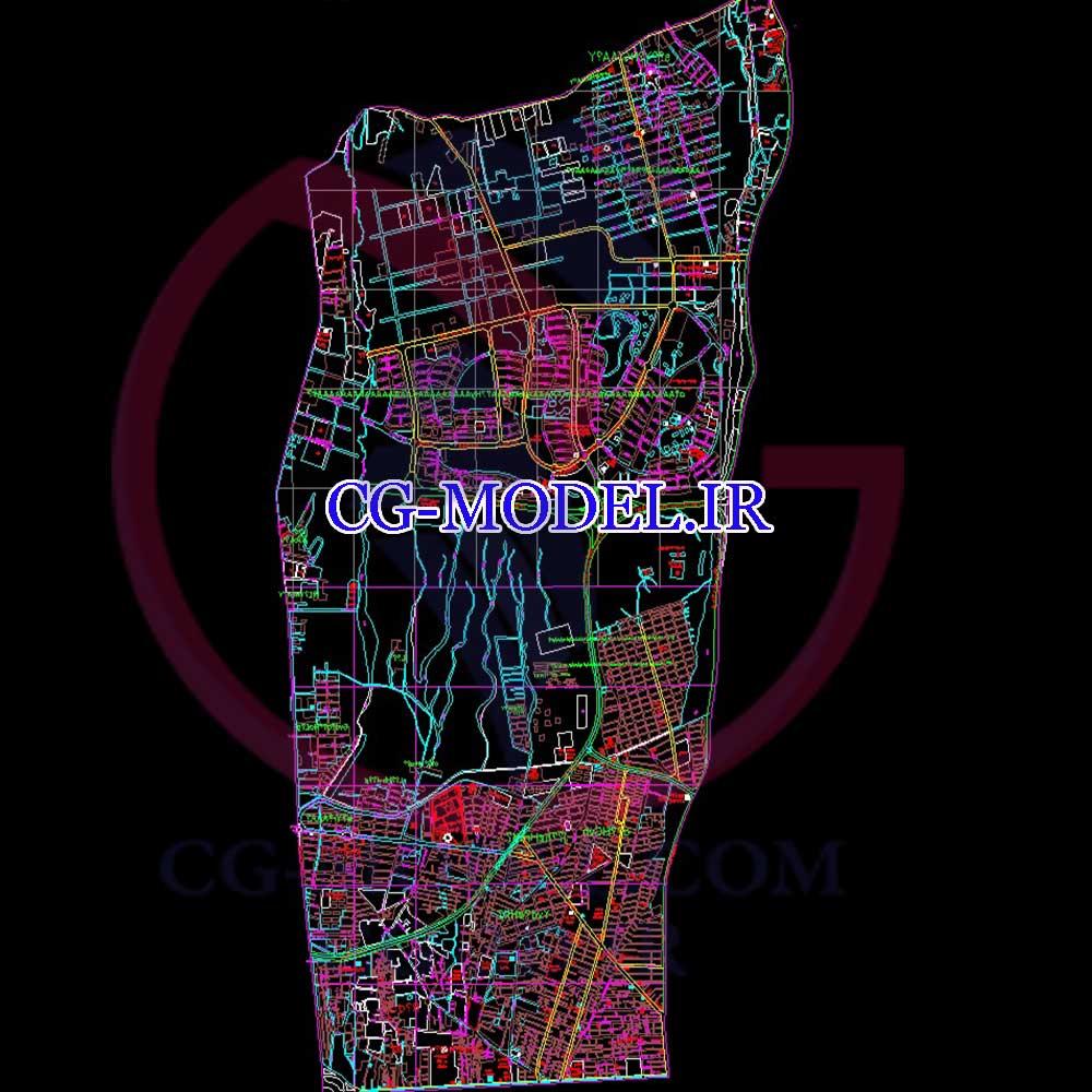نقشه اتوکد منطقه 2 تهران