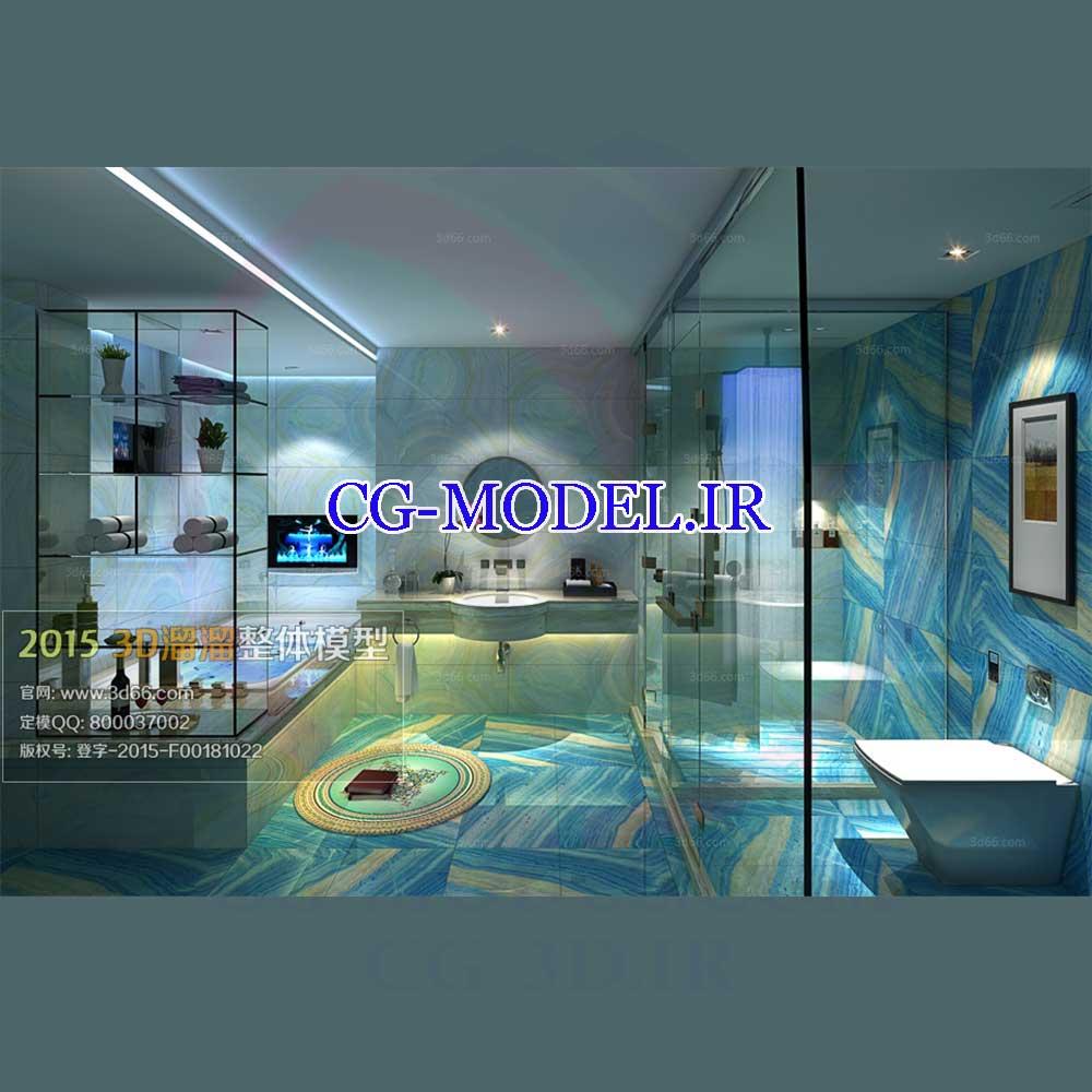 مدل سه بعدی حمام 1