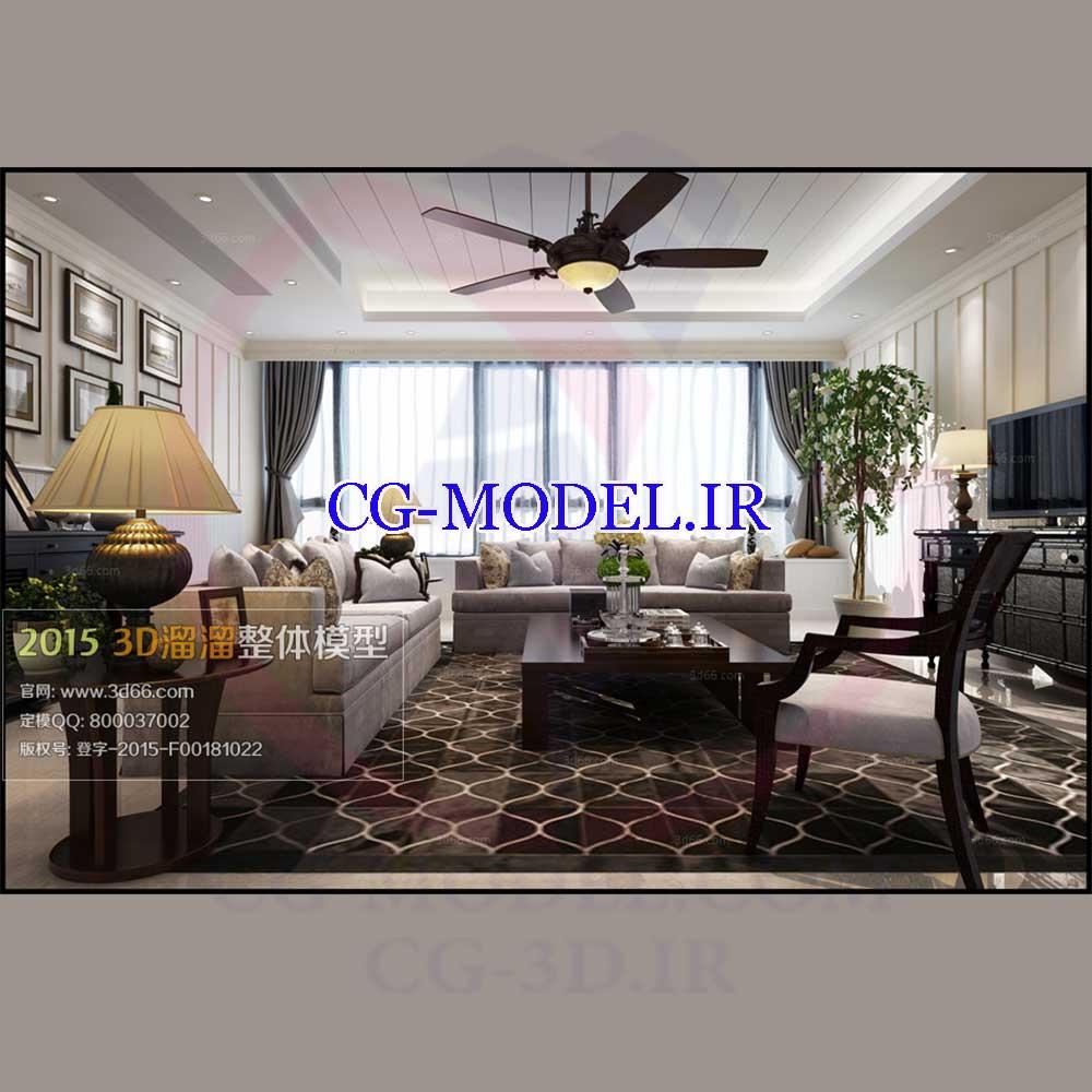 مدل سه بعدی صحنه داخلی 3
