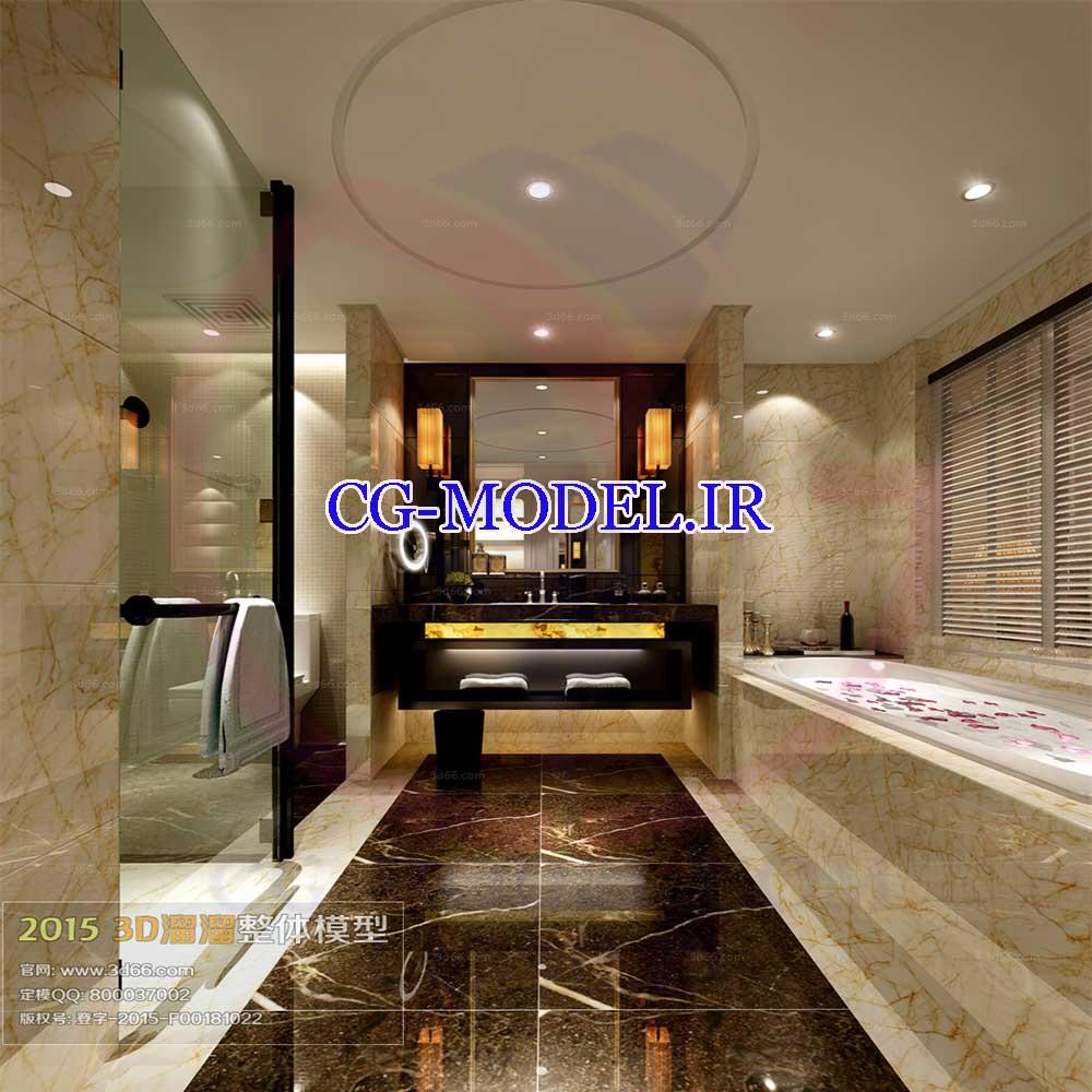 مدل سه بعدی حمام 2