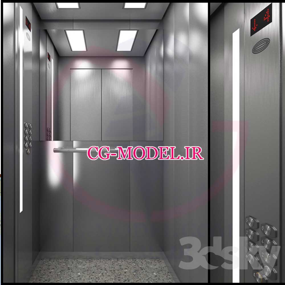 مدل سه بعدی آسانسور 1