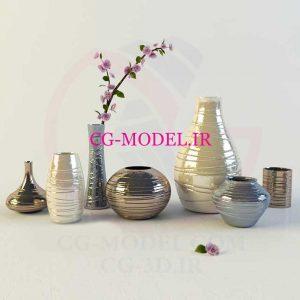 مدل سه بعدی گلدان های تزئینی