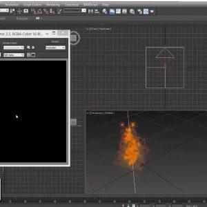 آموزش ساخت آتش بدون استفاده از پلاگین در 3dmax