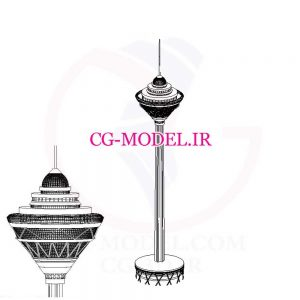 مدل برج میلاد برای revit