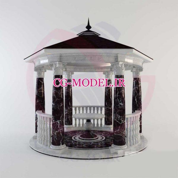 مدل سه بعدی آلاچیق