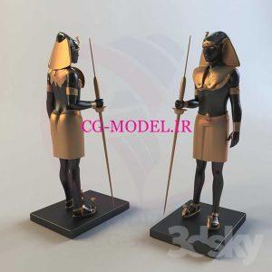 مدل سه بعدی مجسمه مصری