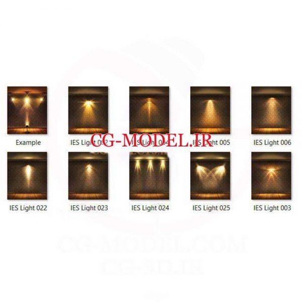 پنجاه و سه عدد PNG,psd نور IES و لامپ