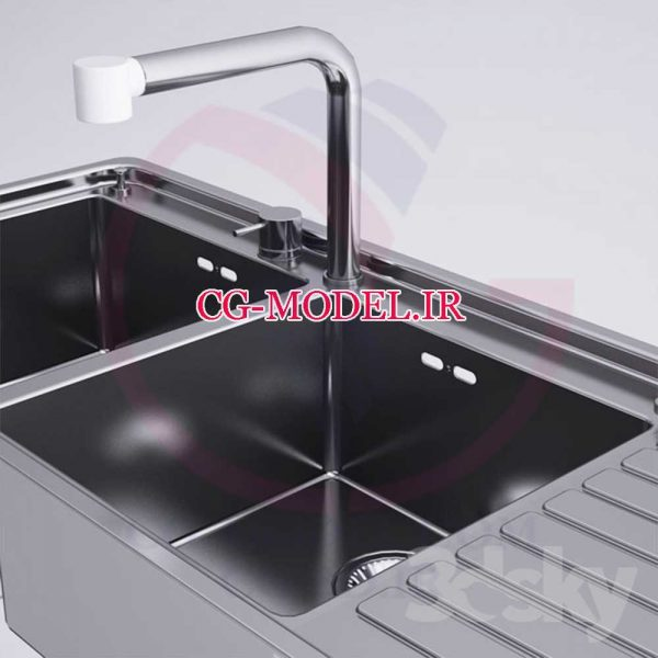مدل سه بعدی سینک ظرفشویی