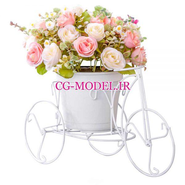 png گلدان گل تزئینی