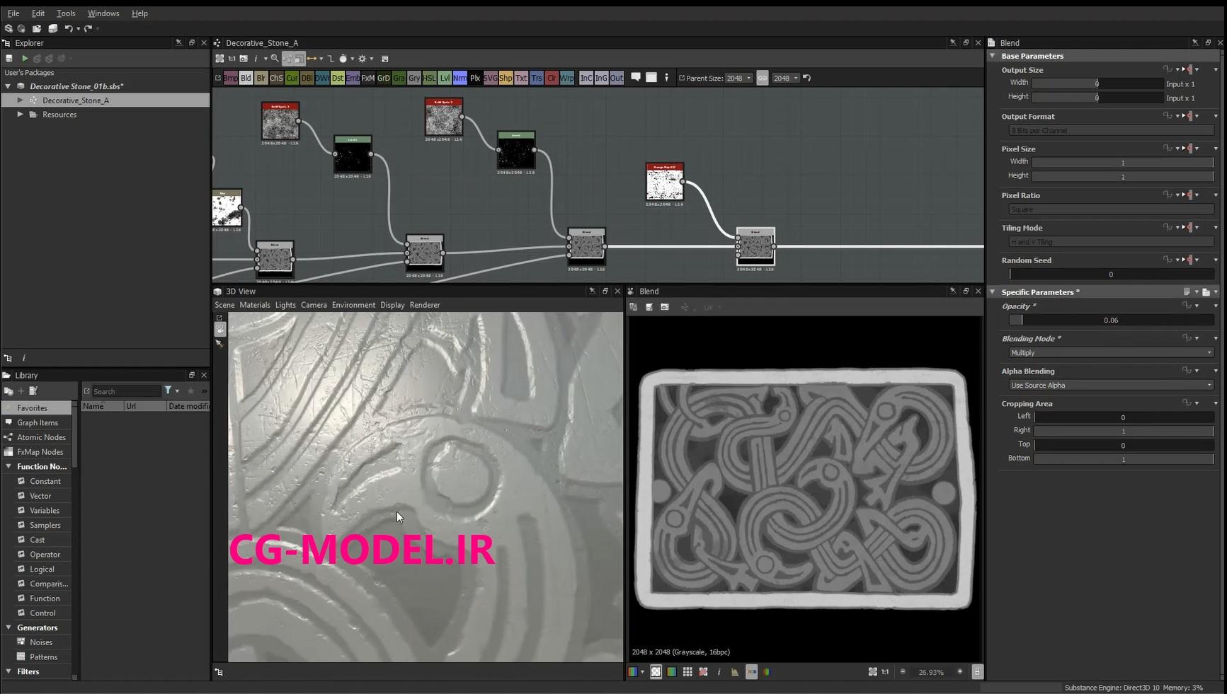 ایجاد الگوهای پیچیده در Substance Designer و ZBrush