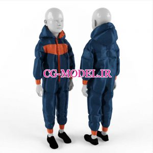مدل سه بعدی مانکن لباس کودک(2)