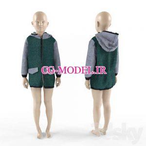 مدل سه بعدی مانکن لباس کودک