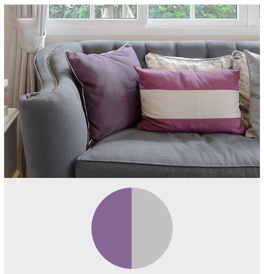 ترکیب رنگ بنفش با رنگ خاکستری تیره در معماری و دکوراسیون داخلی منزل