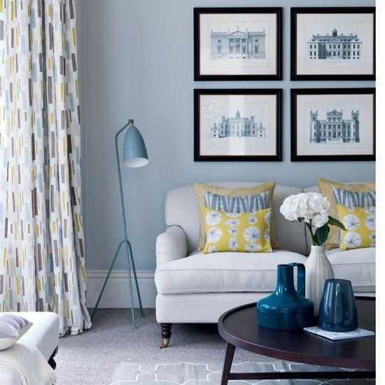 ترکیب رنگ آبی در دکوراسیون داخلی