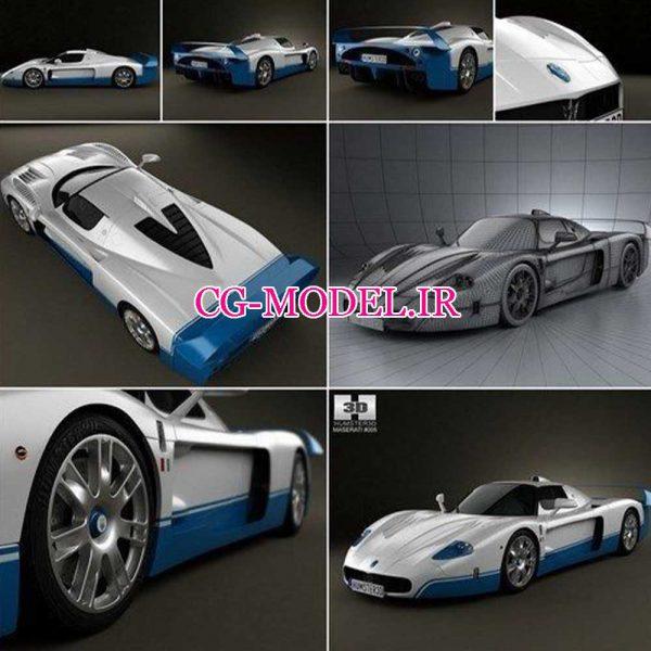 مدل سه بعدی ماشین مازراتی Maserati MC12
