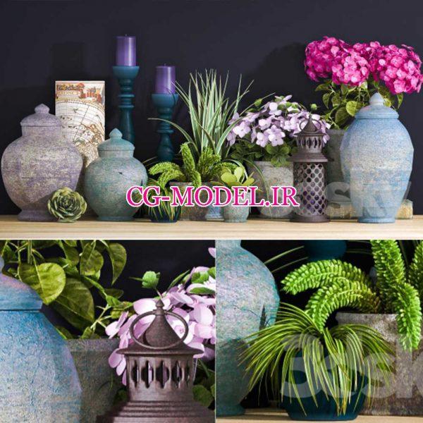 دانلود آبجکت گل و گلدان رایگان