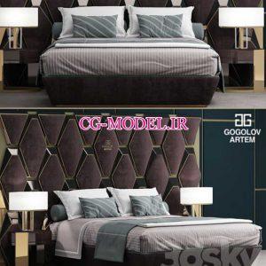 مدل سه بعدی تخت خواب (18)
