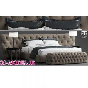 آموزش مدلسازی تخت خواب در 3Dmax Vray Marvelous