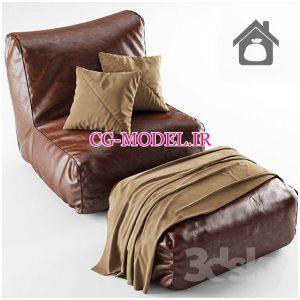 مدل سه بعدی صندلی چرمی