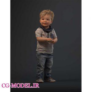 مدل سه بعدی کودک پسر