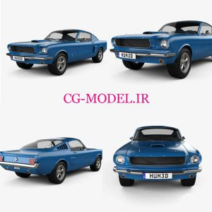 مدل سه بعدی ماشین Ford Mustang 1965
