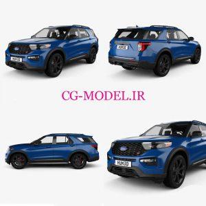 مدل سه بعدی ماشین Ford Explorer ST 2020