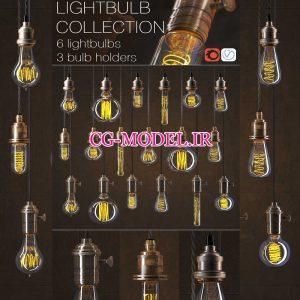 مدل سه بعدی لامپ ادیسونی